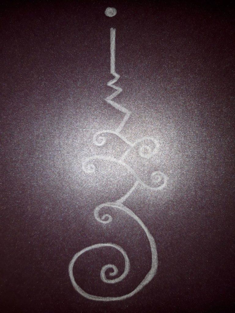 unalome dessin meditatif
